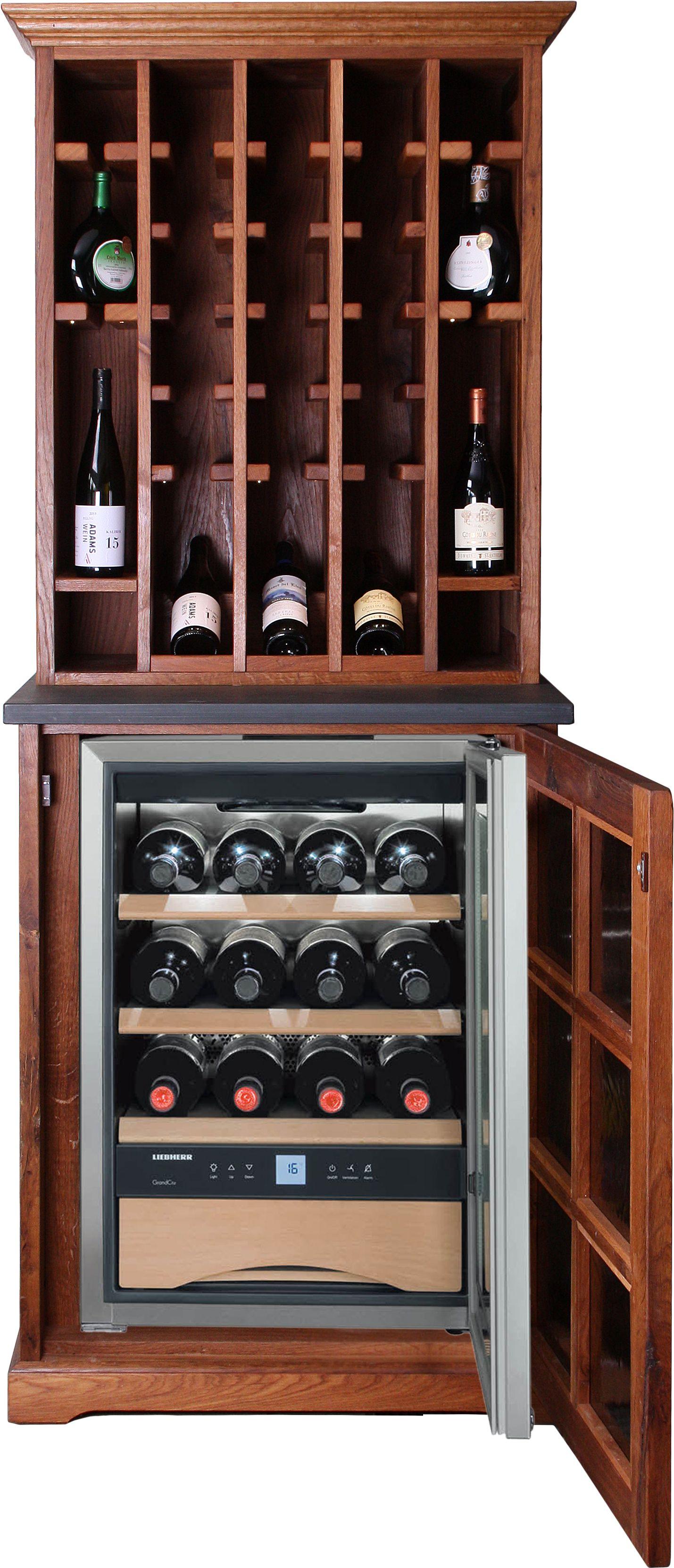 Eine ideale Kombination: Das WeinMöbel Classic mit integriertem ...