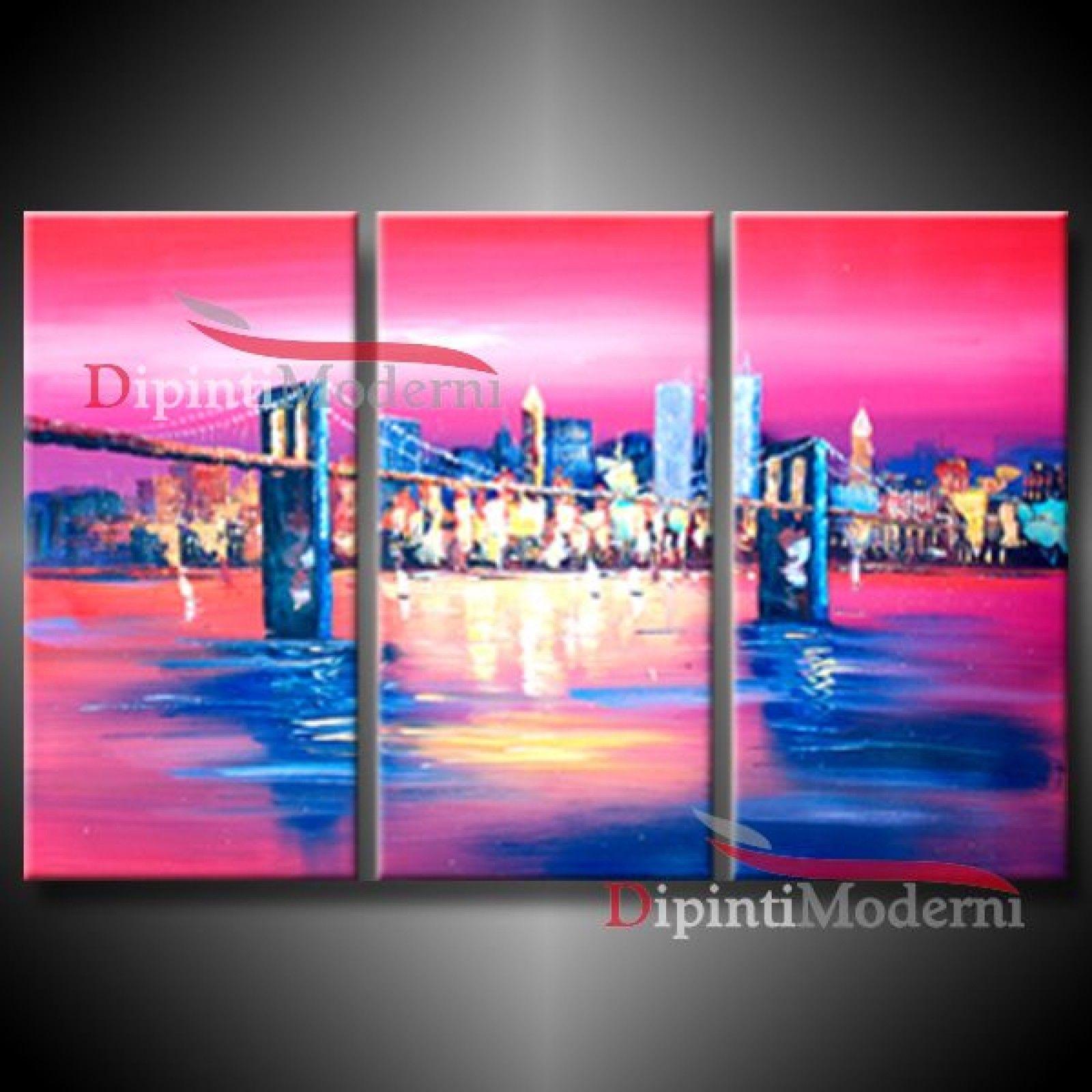 Quadri ponte di brooklyn quadri moderni con paesaggi for Dipingere quadri moderni