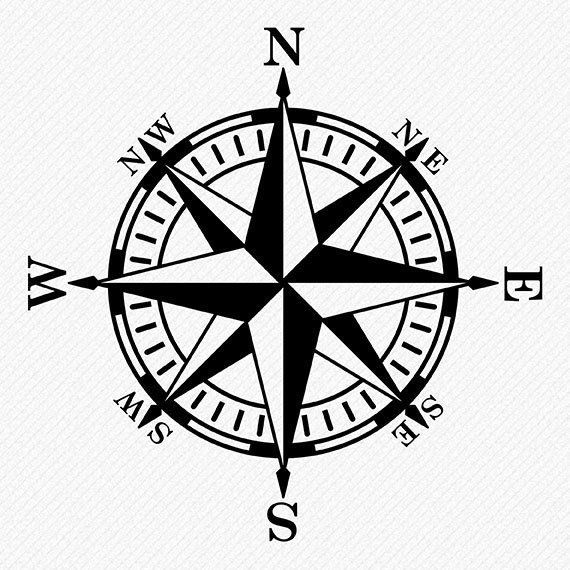Compass Rose Svg Files Compass Vector And Clipart Files Etsy Compass Vector Traditional Compass Tattoo Compass Rose