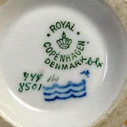 Dating royal copenhagen porcelain