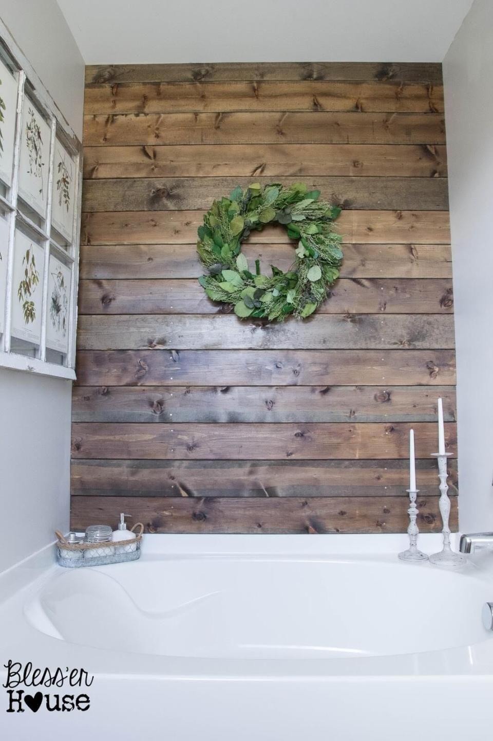 51 Stunning Farmhouse Bathroom Design Decor Ideas Bathroom Design Decor Bathroom Accent Wall Farmhouse Bathroom Decor