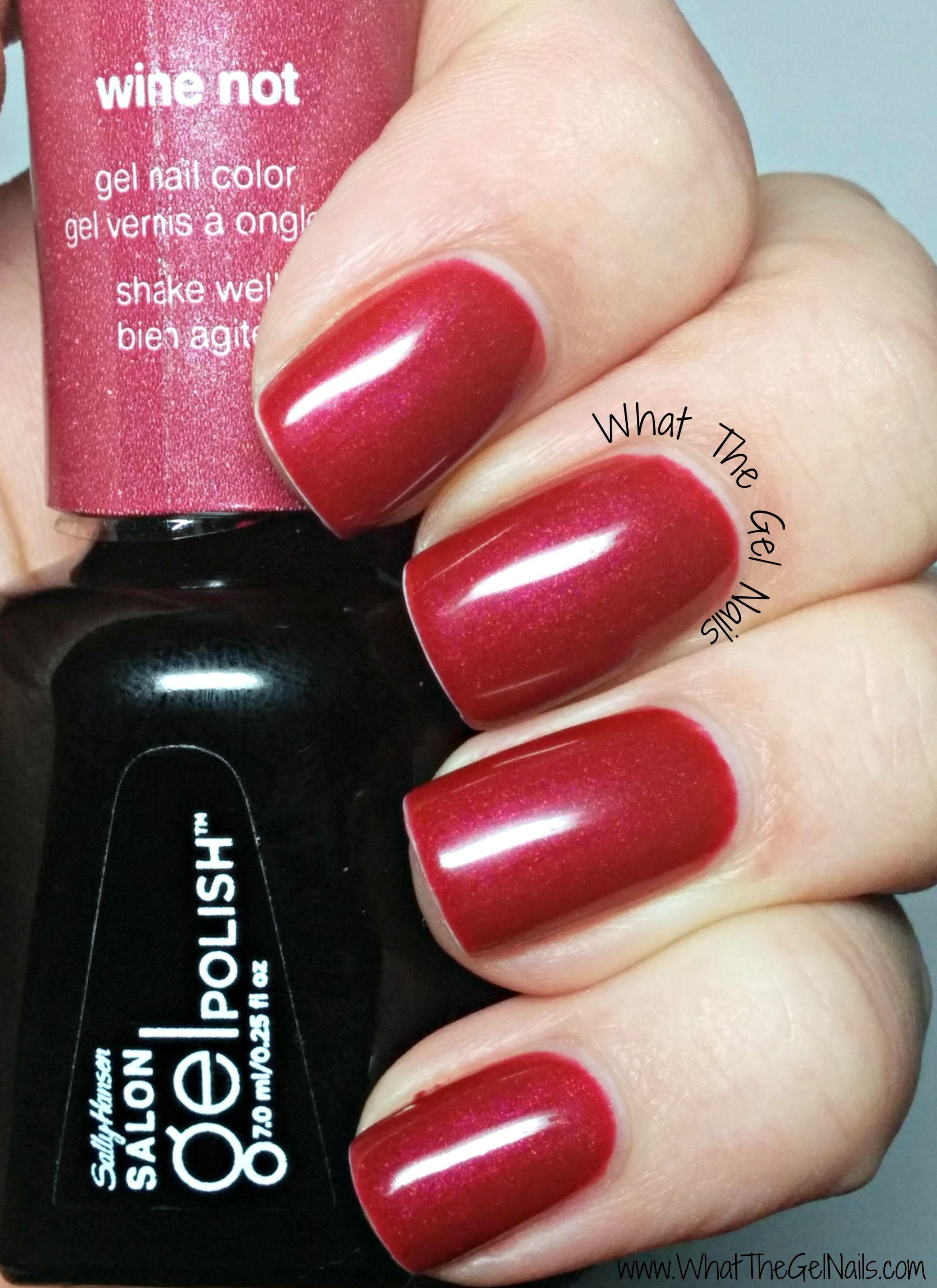 Sally Hansen Salon Gel Polish Wine Not Plus More Christmas Nail Colors