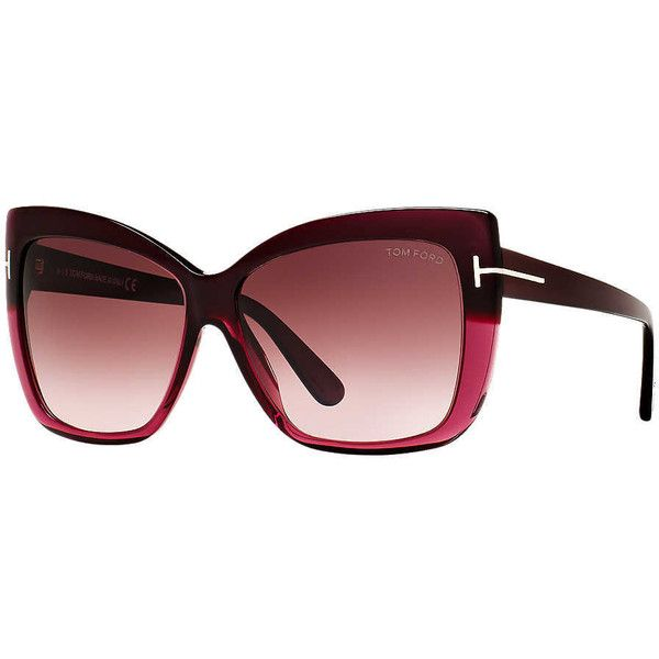 3c84da8d8cbc Tom Ford Ft0390 80b 59 Purple Butterfly Sunglasses ( 380) ❤ liked on Polyvore  featuring accessories