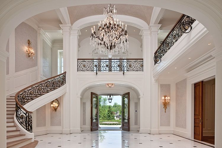 30 000 Sq Ft Luxury Mansion On 6 Acres Of Land In Alpine Nj Staircase Design Foyer Design Mediterranean Homes