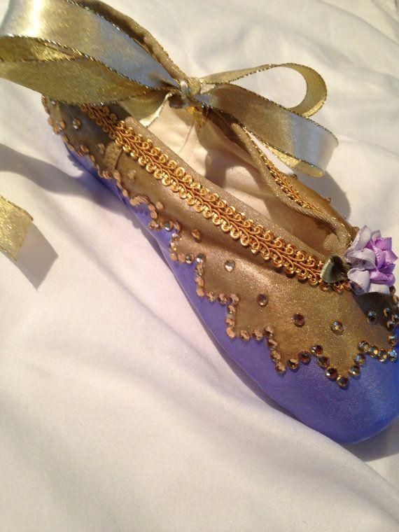 Sugar Plum Fairy ... Decorated Pointe Shoe by JazzedUpPointes