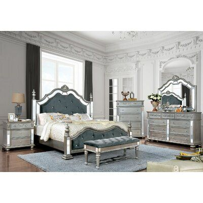 Rosdorf Park Esquivel Upholstered Standard Bed | Wayfair