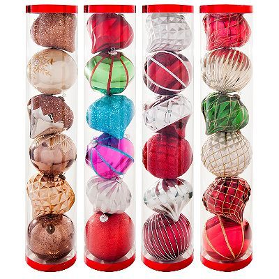 Jumbo Shatterproof Ornament Set 6 Ct Choose Your Style These Are The Ones You Saw Ornament Set Shatterproof Ornaments Indoor Christmas Decorations