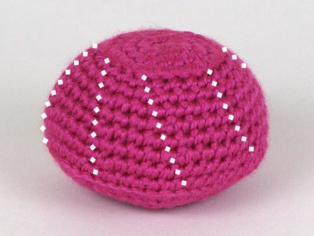 Amigurumi Stitch Tutorial : Invisible increase for amigurumi worth st stitch through front