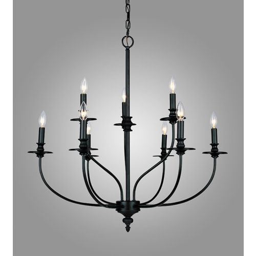 Zoomed: Westmore Lighting 9-Light Hartford Oil Rubbed