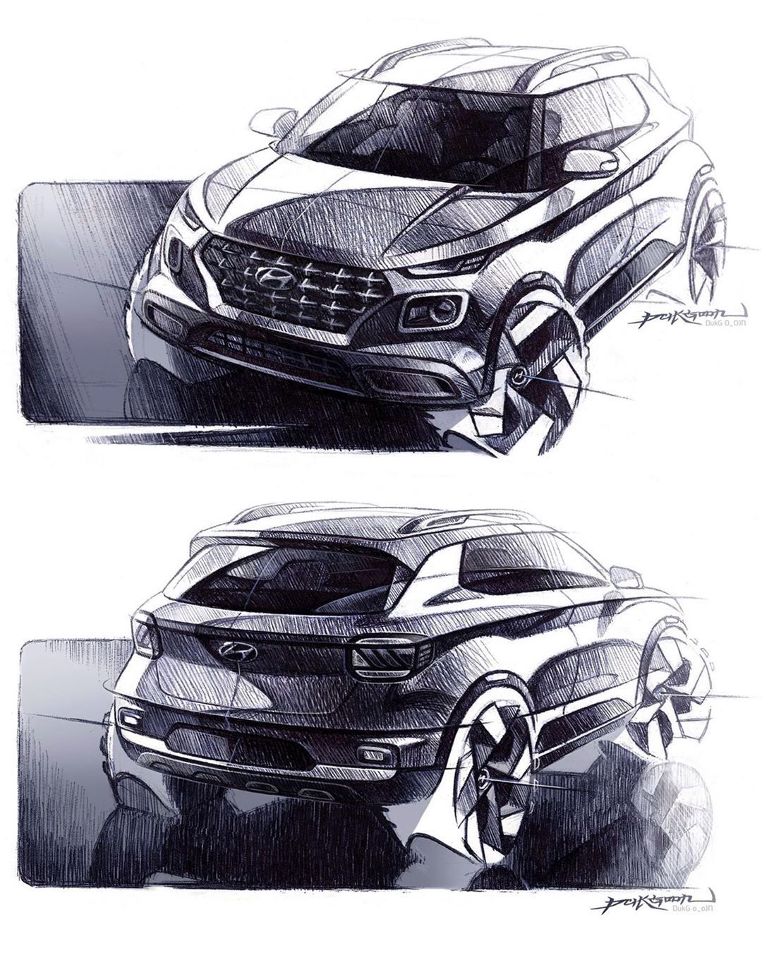 Car Design World On Instagram Hyundai Venue Official Sketches