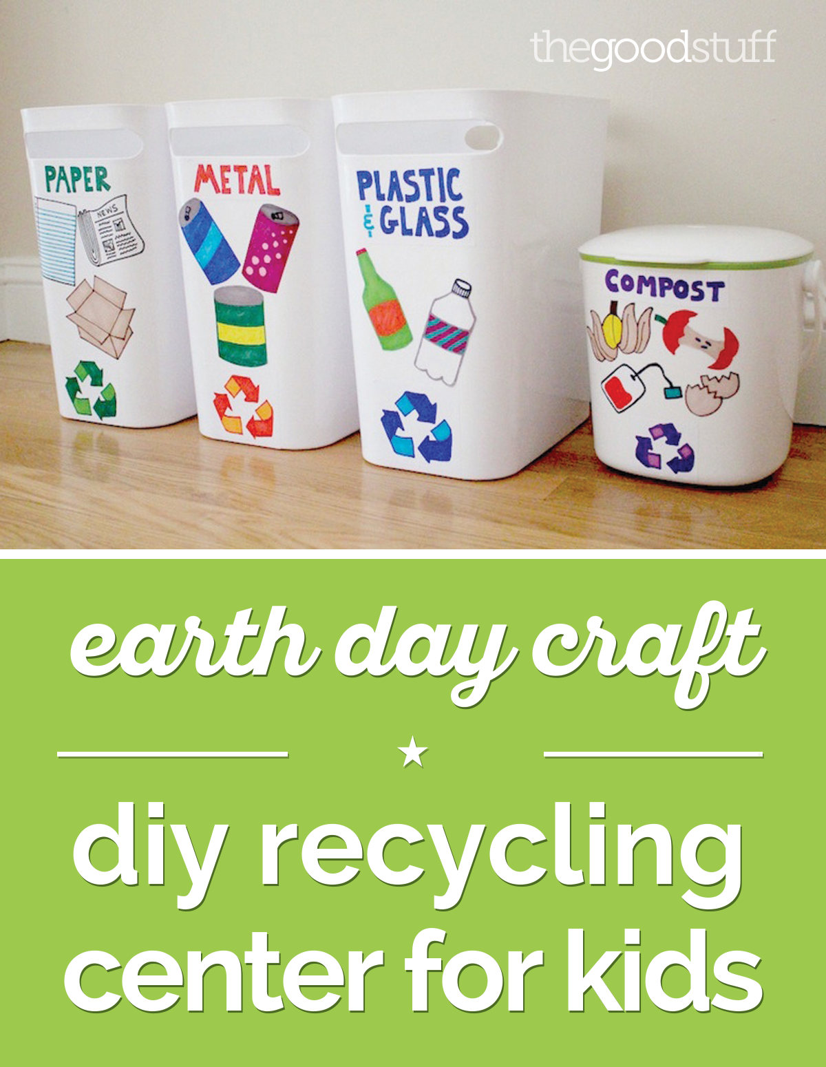 earth day craft diy recycling center for kids recycling center