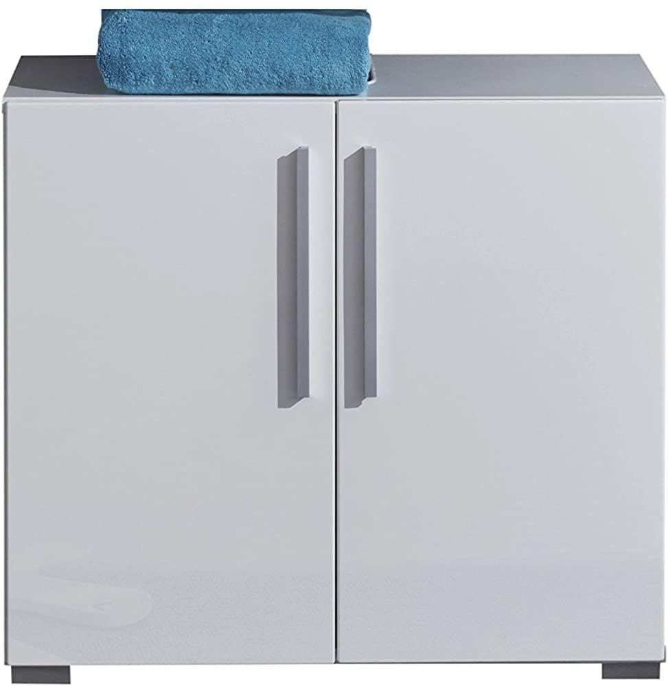 Trendteam Badezimmer Waschbeckenunterschrank Unterschrank Enjoy 65 X 58 X 34 Cm In Korpus Weiss Front Weiss Hochgla Waschbeckenunterschrank Unterschrank