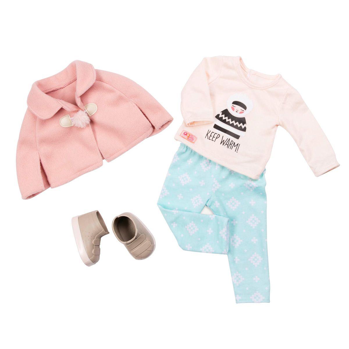 Ensemble cape et pantalon bleu pour poupée #dollaccessories