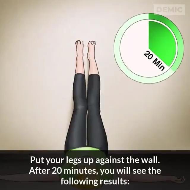 Video Health Benefits Of Raising Legs 20 Mins Everyday Di 2020