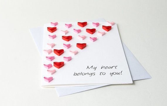 Unique Valentine S Day Card Quilling Quilled Hearts Unique Love