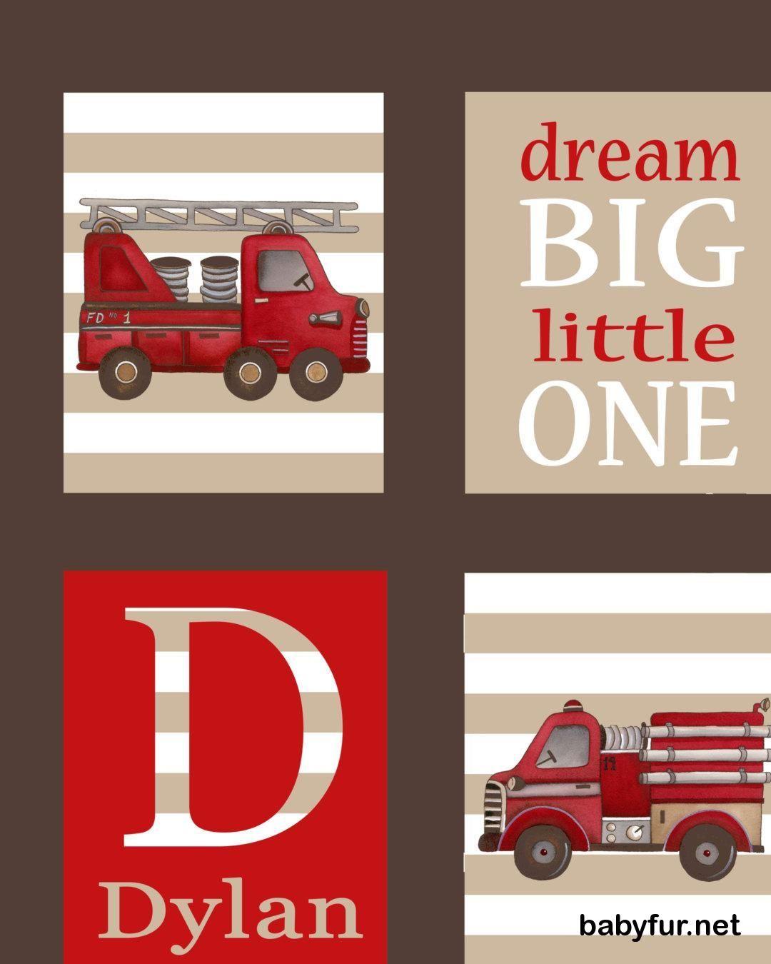 Fire truck art firetruck art children s boys nursery art prints kids children