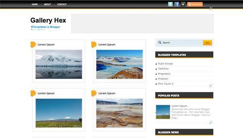 20 Photo Gallery Blogger Templates To Free Download Dengan Gambar