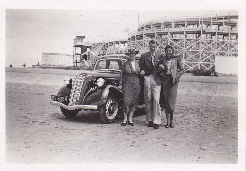 Vintage Photo Southport Beach Old Car Registration Fairground ...