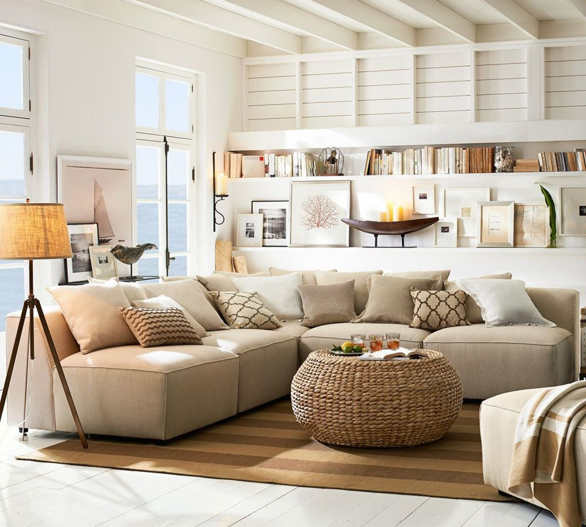 Hampton style sittng room - Pottery Barn AU | My Style. Future home ...