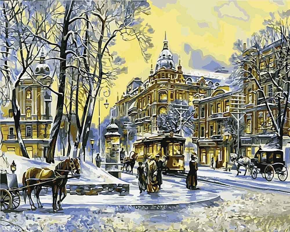 Картина по номерам «Старый Киев. Андреевская церковь ...