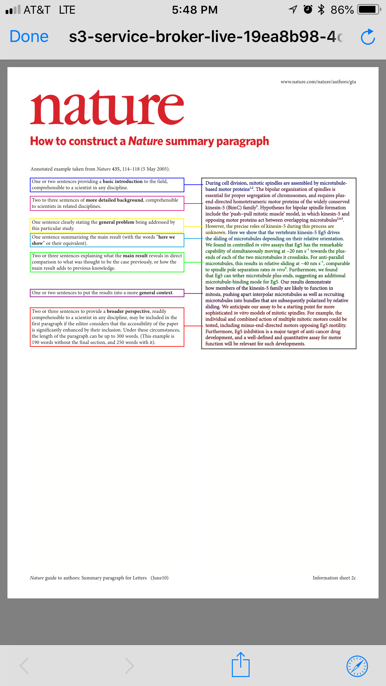 nature summary paragraph