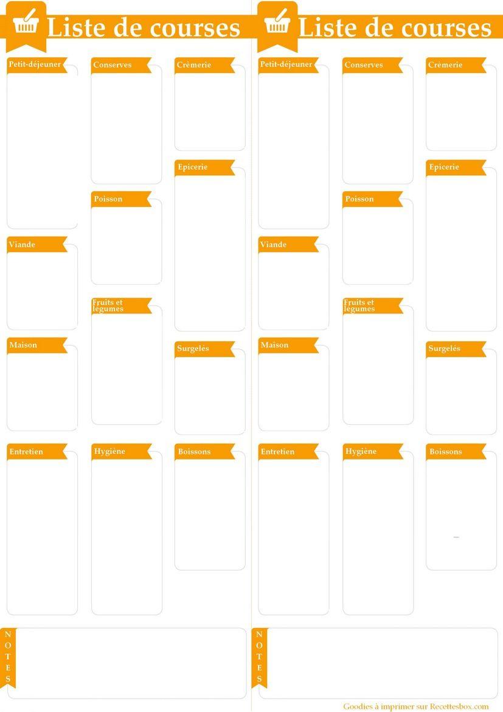 la liste de courses id ale imprimer format pdf fichier excel language lessons french and. Black Bedroom Furniture Sets. Home Design Ideas