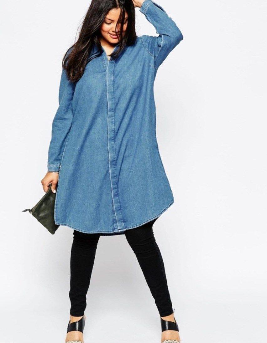 Pin by Anna Plus on Shirt fashion in 2019 | Fashion, Denim shirt ...