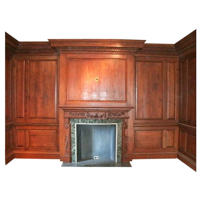 Furniture Repair Nyc Upper East Side: Antique Knotty Pine Paneled Room With Marble Mantel From