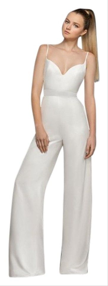 Hayley Paige | Ivory 5868 Crepe Bridesmaid Romper/jumpsuit