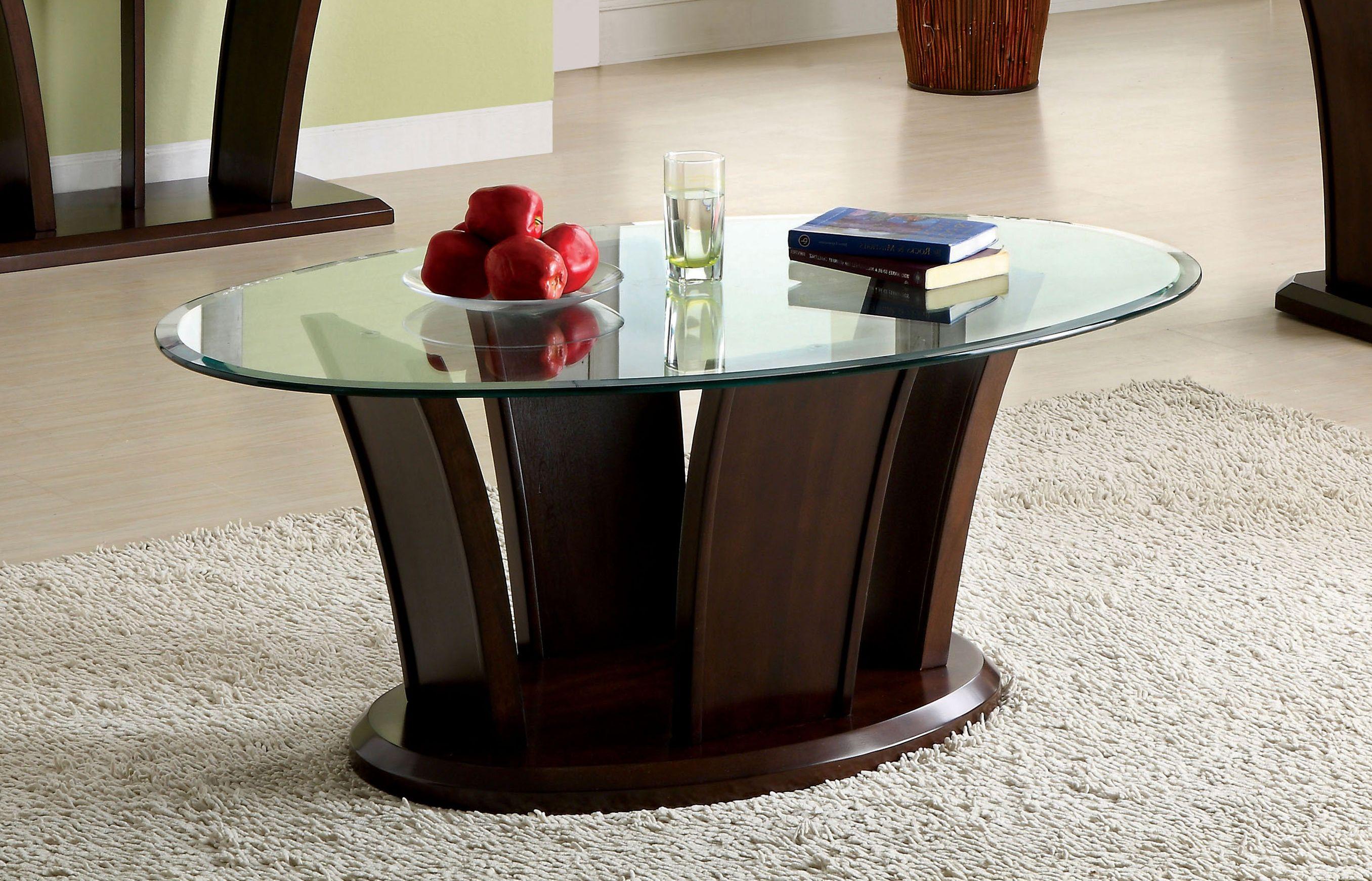 Furniture Of America Dark Cherry Corrie Glass Top Coffee Table Brown Cherry Wood Coffee Table Coffee Table Wood Solid Wood Coffee Table [ 1741 x 2712 Pixel ]