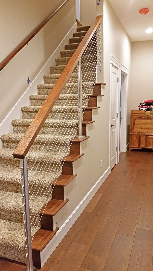 Best Cable Railing For Staircase Stainless Steel Round Posts 640 x 480