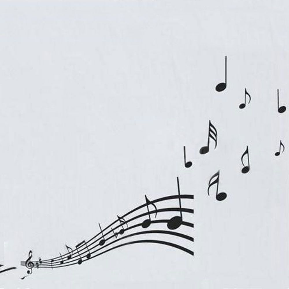 Graffiti wall vinyl - Vinyl Musical Notes Pattern Graffiti Wall Home Decor Mural Decal Removable Stickers Decals Paper