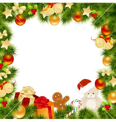 Christmas Card Border.Christmas Card Border Vector 599346 By Nete Border Design