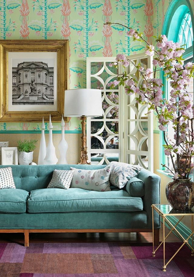 Heidi Pribell Interiors Living Room Color Schemes, Design Living Room,  Living Area, Turquoise