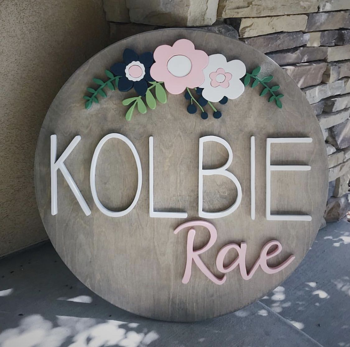 Child's Name Sign, Nursery Sign, Wood Name Sign, Round Name Sign, Custom Name Sign #babygirlnames