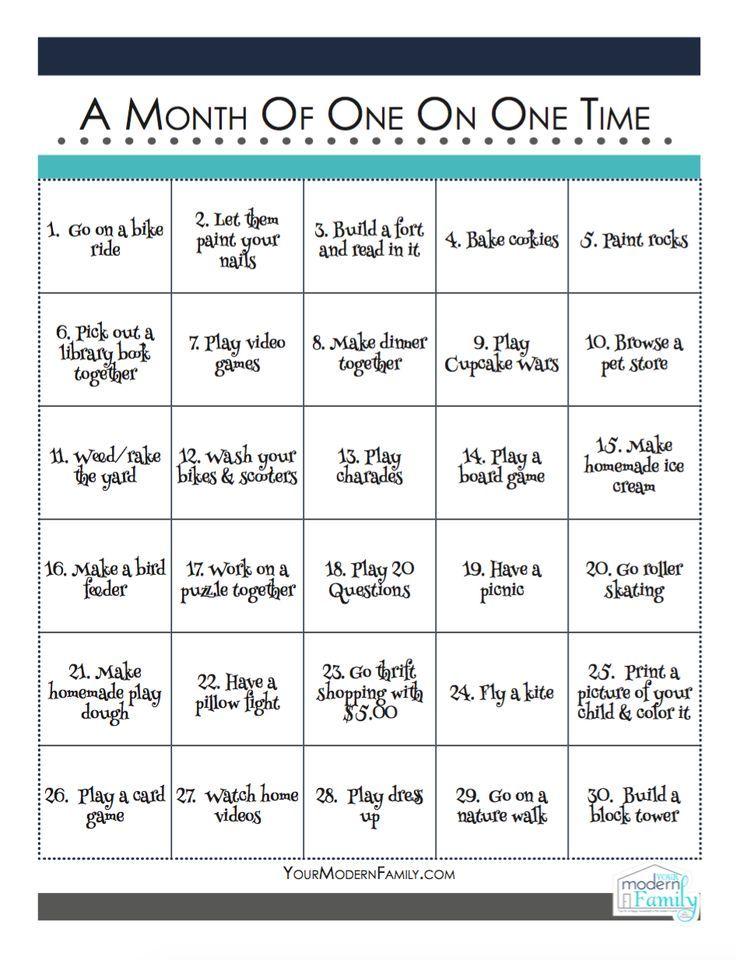 1 zu 1 Zeit - Ideenkalender - #Ideenkalender #Zeit #zu #parenting