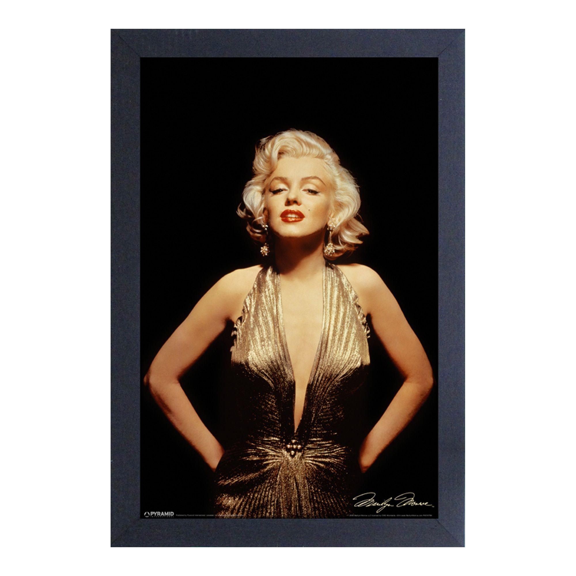 Marilyn Monroe - Gold - Framed 11x17 print by Pyramid America ...