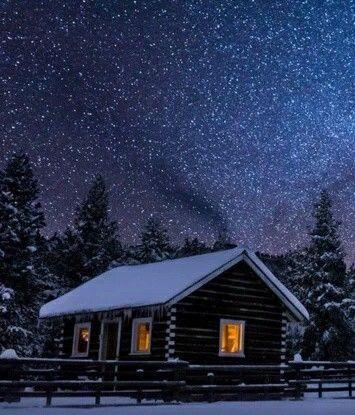 Winter in Montana, USA.