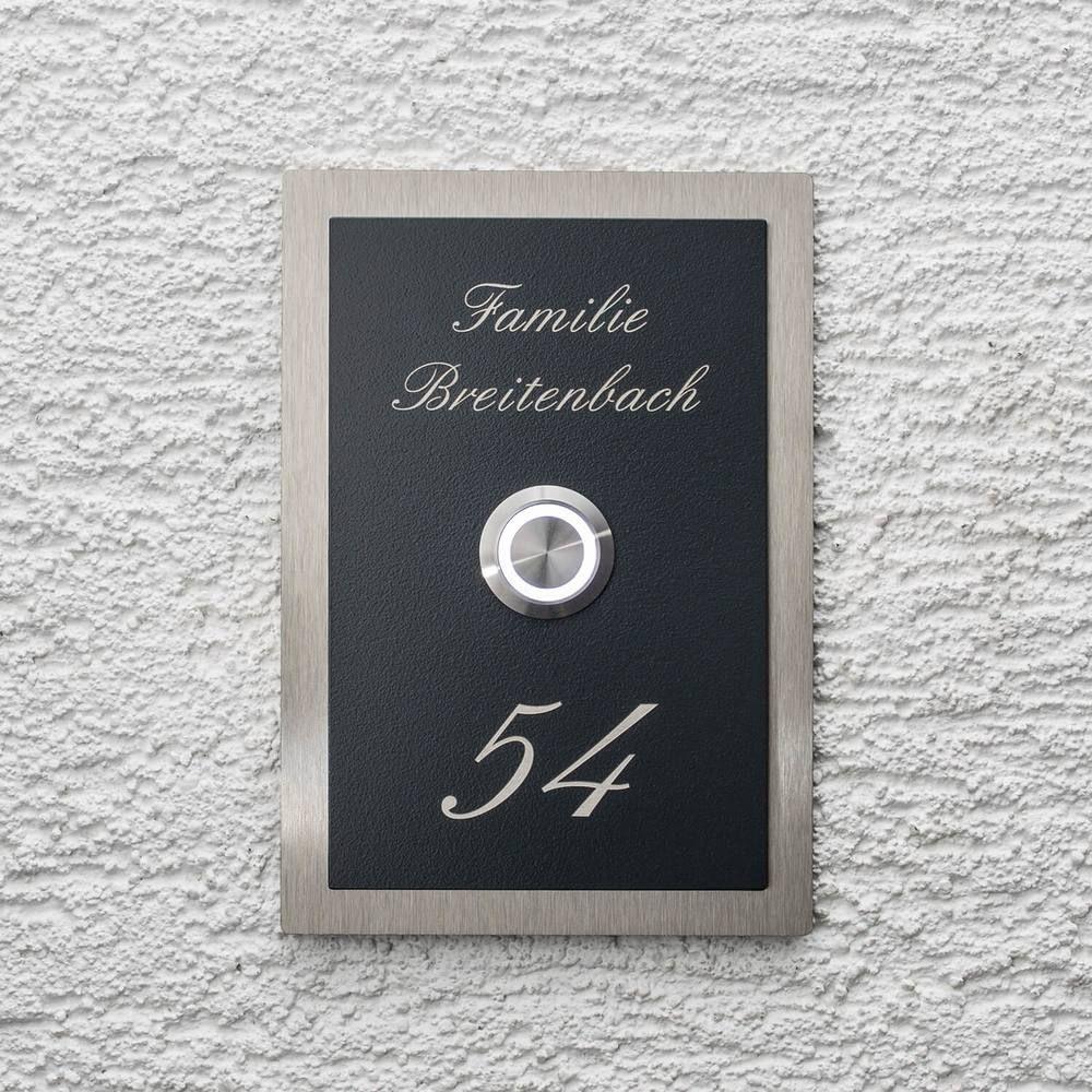 Klingelschild AN T34 Edelstahl Türklingel edelstahl tuerklingel lineshop für Türklingeln 59 89 € briefkasten Pinterest