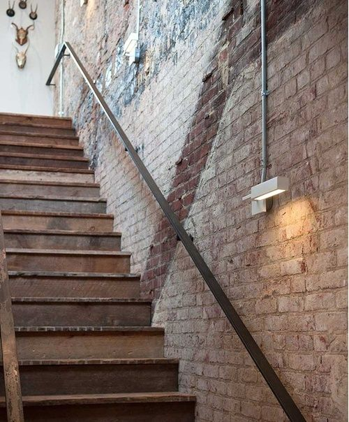 Best Reclaimed Wood Stairs Staircase Design Exposed Brick 400 x 300