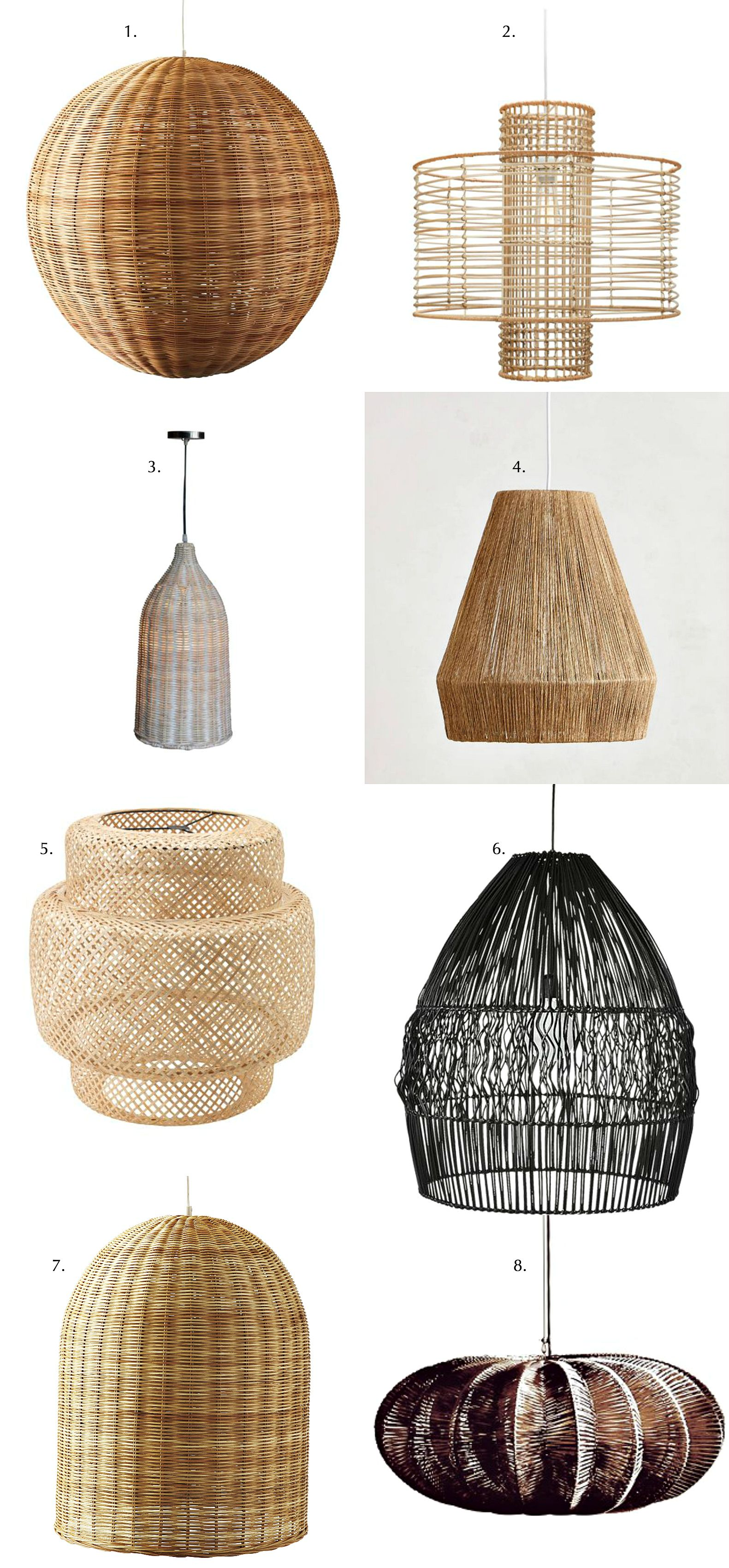 Blissful corners wicker pendant lights bliss
