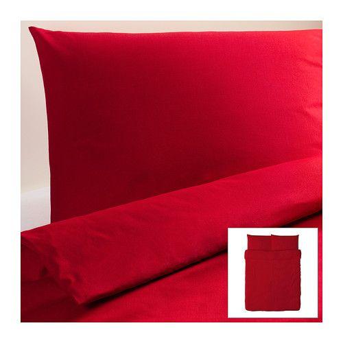 dvala housse de couette et taie s ikea boutons pression dissimul s maintenant la couette en. Black Bedroom Furniture Sets. Home Design Ideas
