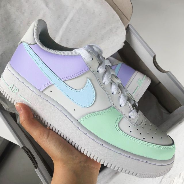 Pastel Lilac/Blue/Mint Air Force 1 by anikecu