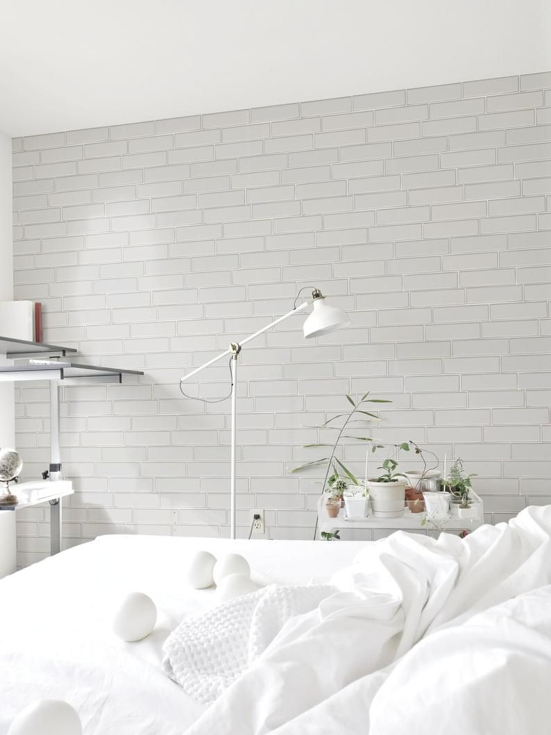 White Brick Wallpaper White Brick Removable Wallpaper Etsy Removable Brick Wallpaper White Brick Wallpaper Brick Wallpaper