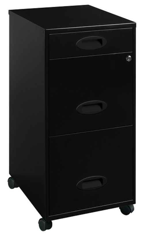 Locking File Cabinet Portable 3 Drawer Steel Document Storage