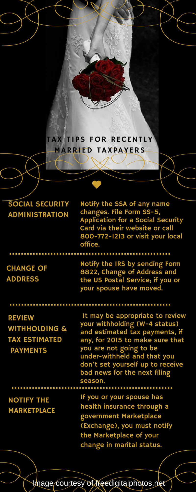 Tax Tips For Individuals Who Are Recently Married Information