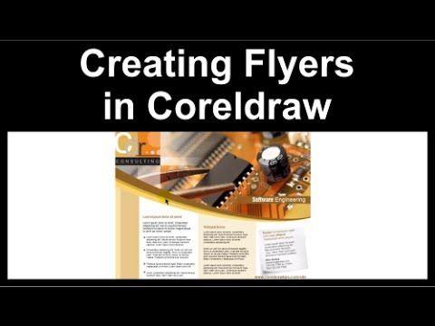 Creating A Flyer In CorelDraw Design Pinterest Coreldraw