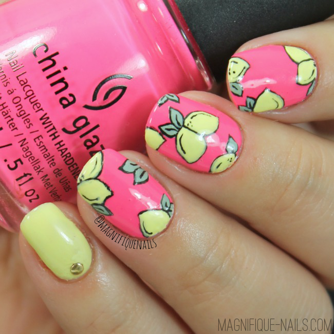 When Life Hand You Lemons, Make Al Lemon Nail Art Design