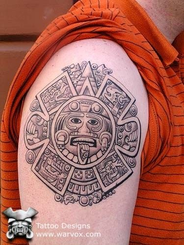 Aztec Calendar Tattoo Tatuajes Tribales Aztecas Tatuajes
