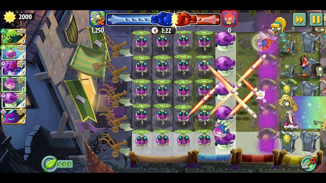 Plants Vs Zombies 2 Strategy Using Rotobaga Vs Pea Nut Battlez